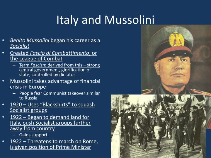 Italy and Mussolini