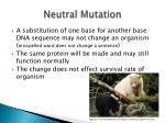 neutral mutation
