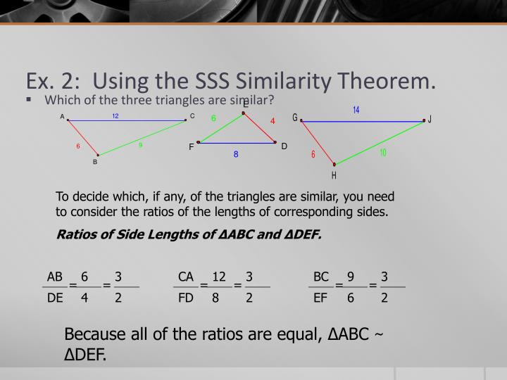 Ex. 2:  Using the SSS Similarity