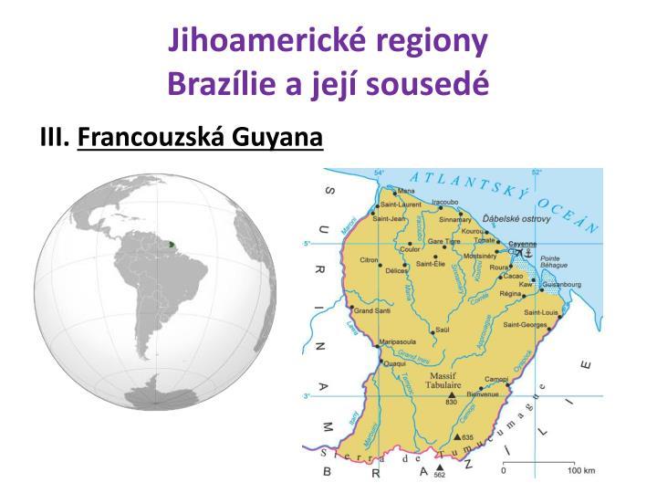 Jihoamerické regiony