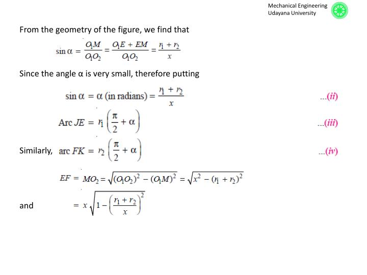 From the geometry of the figure, we find that