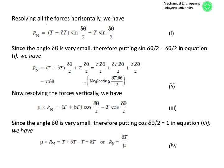 Resolving all the forces horizontally, we have