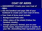 c oat of arms
