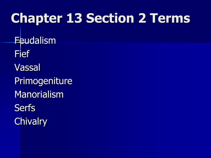 chapter 13 section 2 terms n.