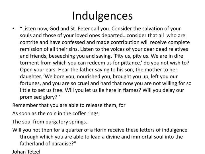 Indulgences