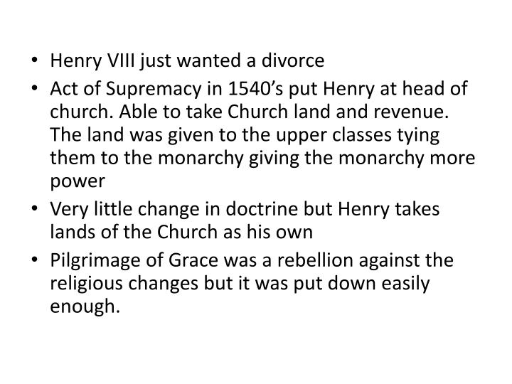 Henry VIII just wanted a divorce