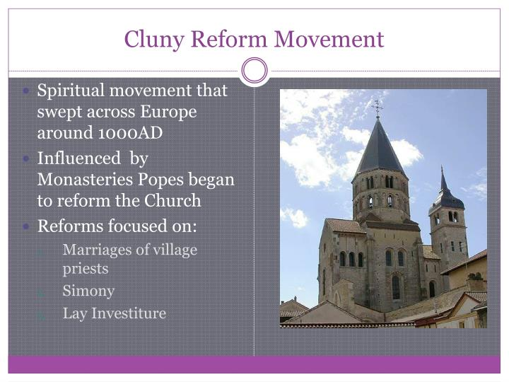 Cluny Reform Movement