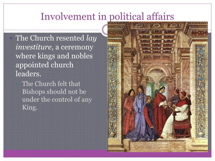 Involvement in political affairs
