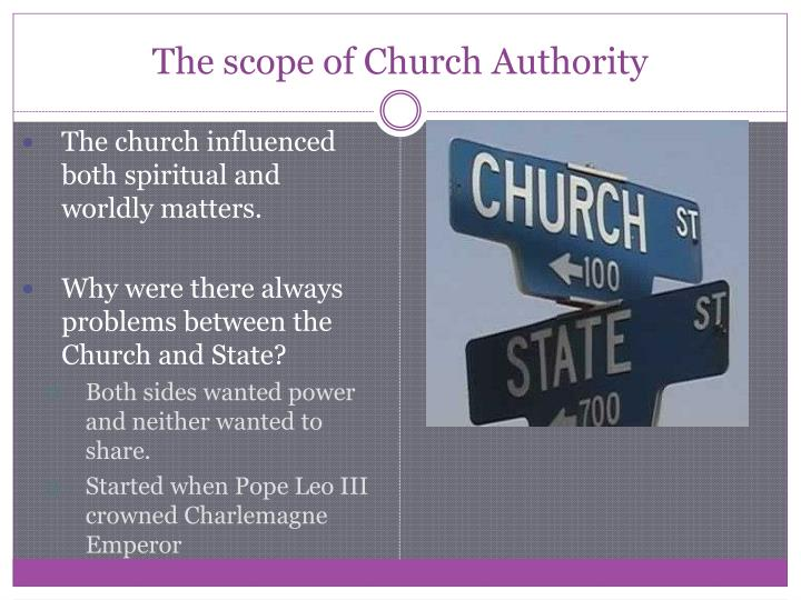 The scope of Church Authority