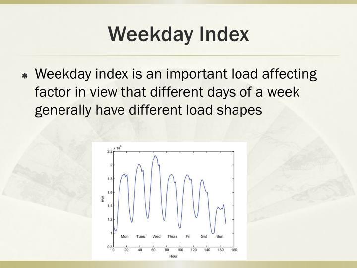 Weekday Index