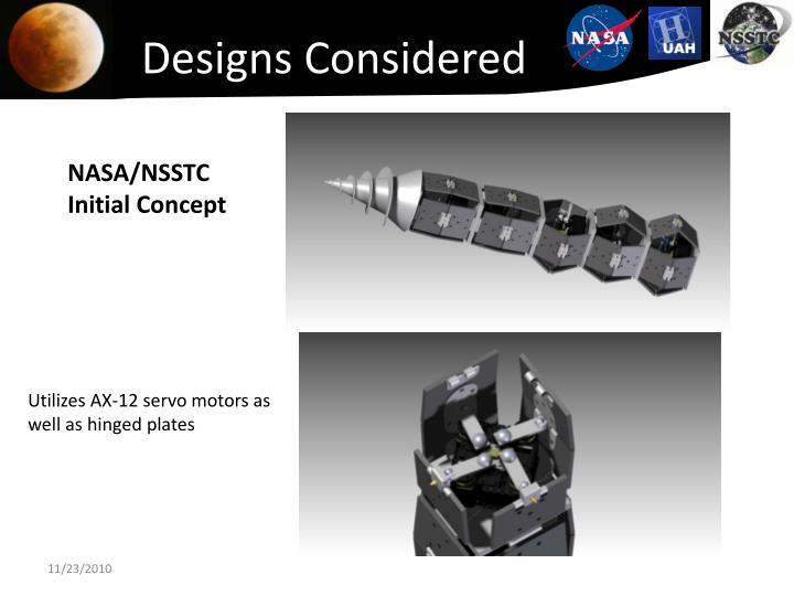 Designs Considered