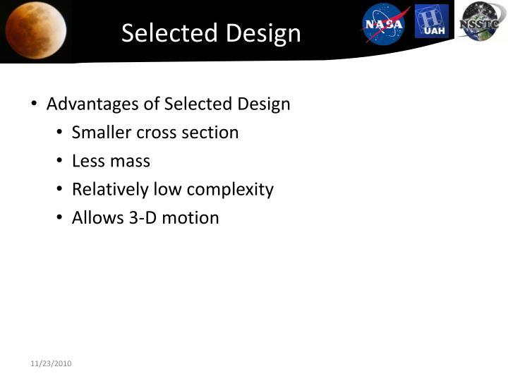 Selected Design