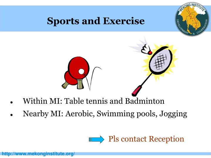Sports and Exercise