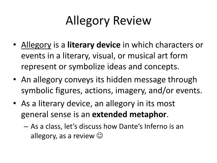 Allegory Review