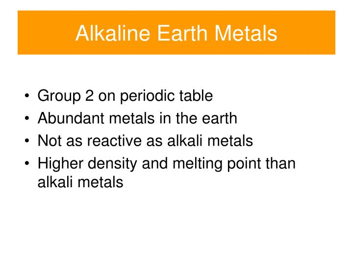 Ppt periodic groups and trends powerpoint presentation id2344151 alkaline earth metals group 2 on periodic table urtaz Gallery