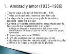 amistad y amor 1935 1936