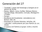 generaci n del 27