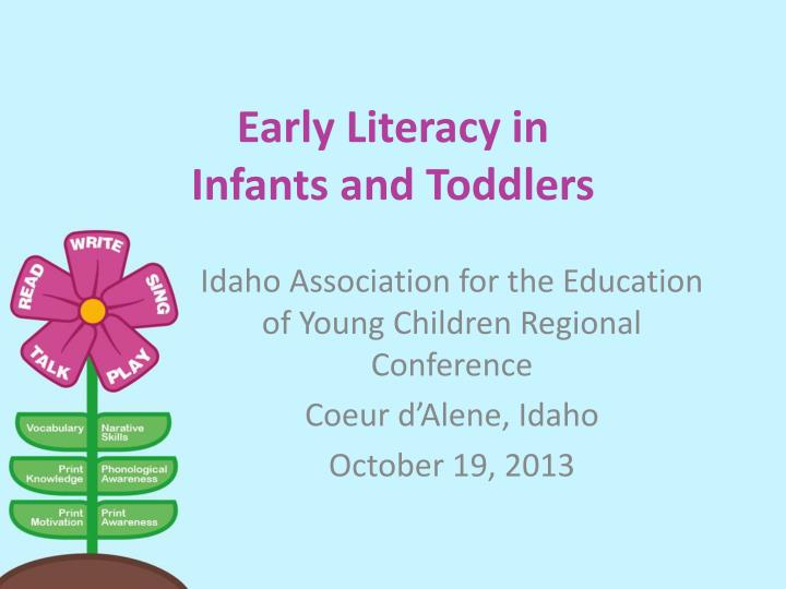 early literacy in infants and toddlers n.