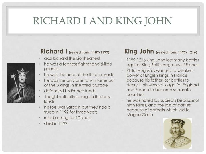 Richard I and King