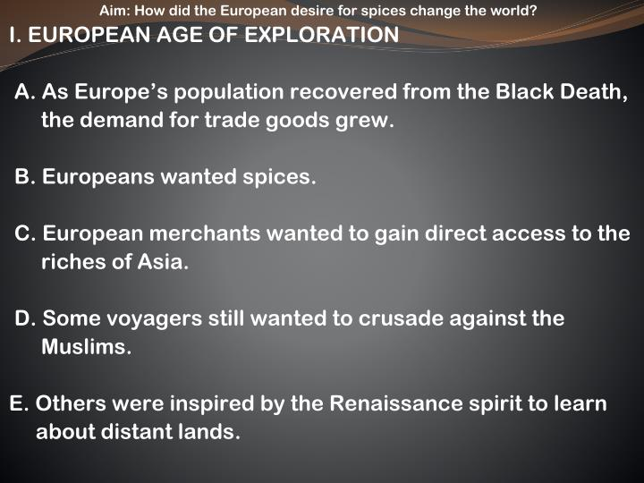 how did the age of exploration change the world