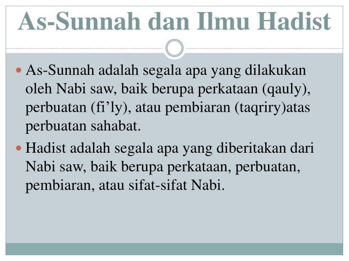 As sunnah dan ilmu hadist