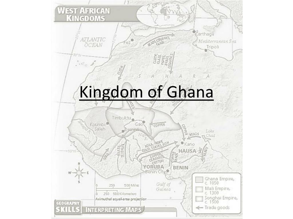PPT - Trading Kingdoms of West Africa PowerPoint Presentation - ID Kingdom Of Ghana Africa Map on kingdom of ethiopia map, ancient ghana map, medieval ghana map, empire of ghana west africa map, classical empires in africa map,