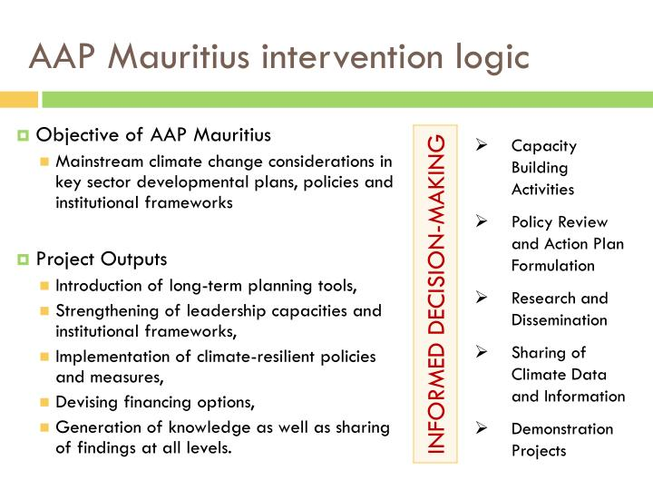 AAP Mauritius intervention logic