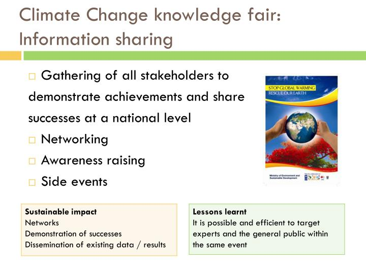 Climate Change knowledge fair: