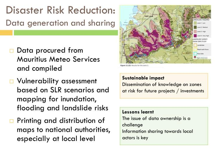 Disaster Risk Reduction: