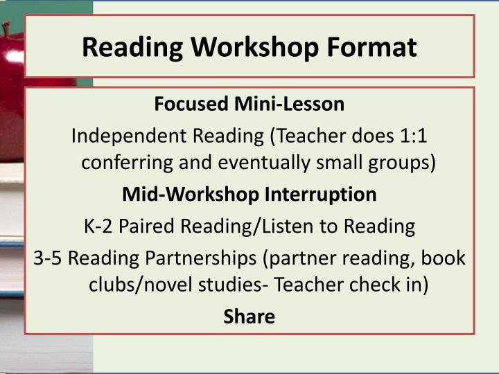 Reading workshop format