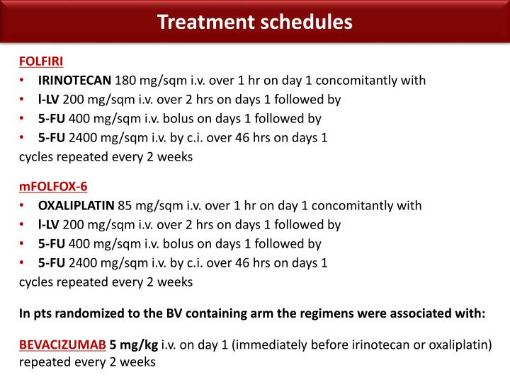 Treatment schedules