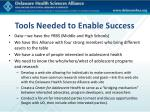 tools needed to enable success