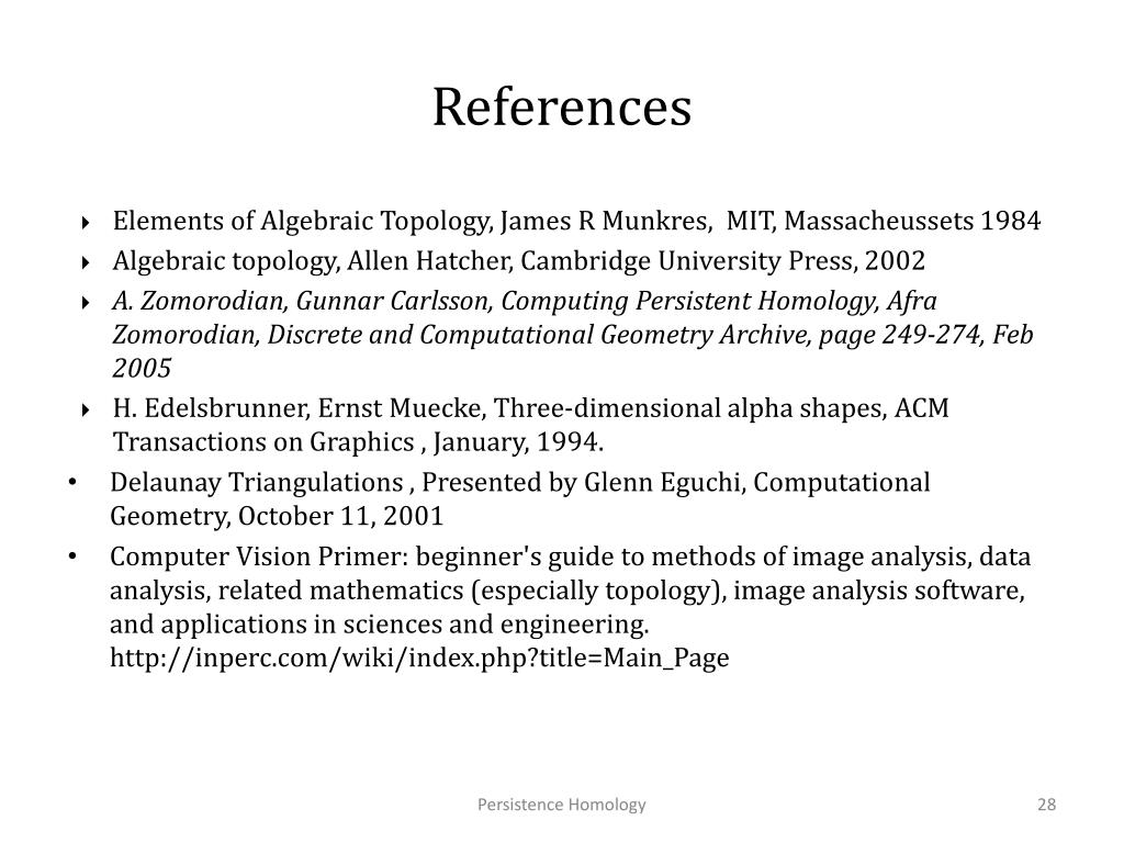 PPT - Homology Groups And Persistence Homology PowerPoint