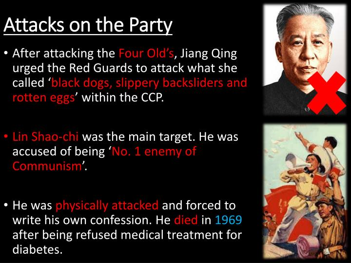 Attacks on the Party