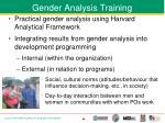 gender analysis training