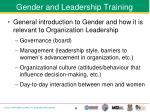 gender and leadership training