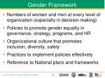gender framework