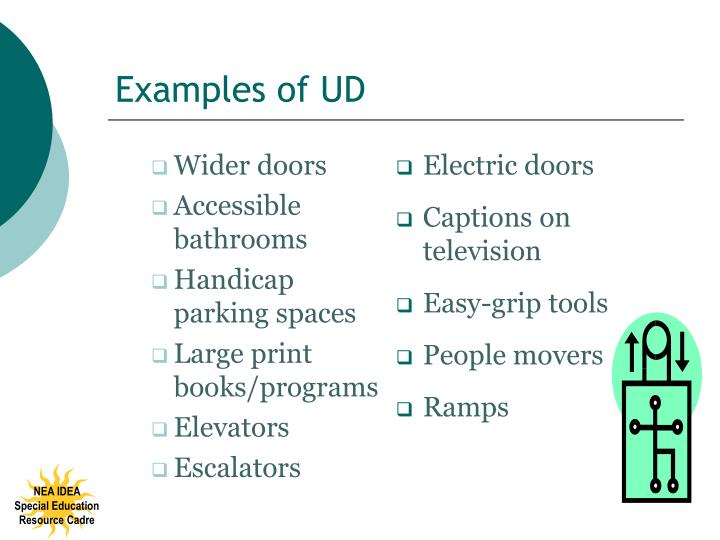 Examples of UD