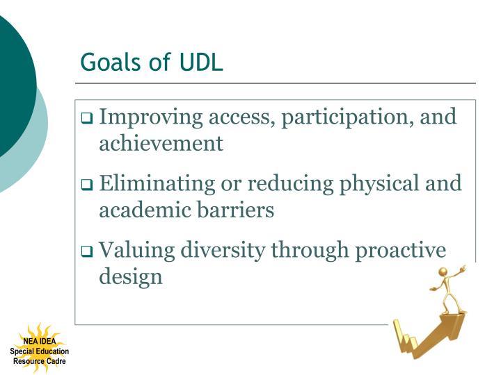 Goals of UDL
