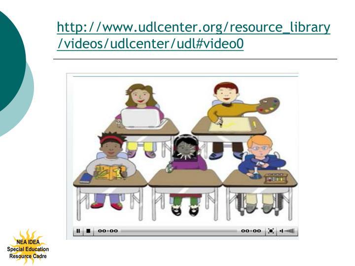 http://www.udlcenter.org/resource_library/videos/udlcenter/udl#video0