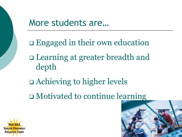 More students are…