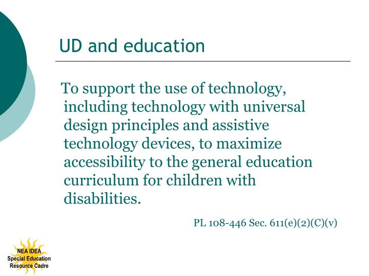 UD and education
