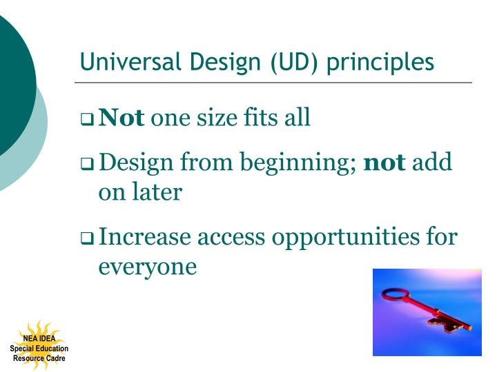 Universal Design (UD) principles
