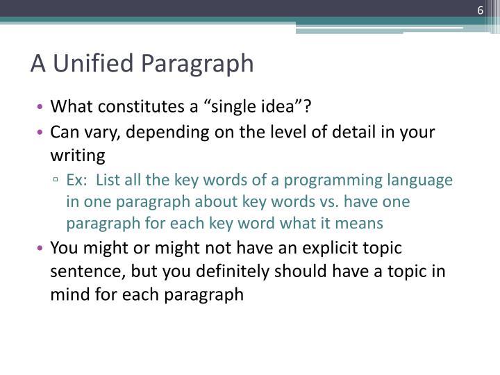 explicit topic sentence