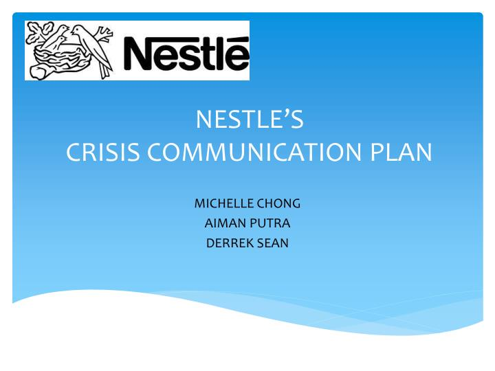 business plan of nestle