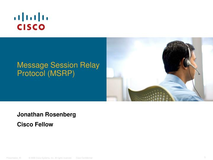 message session relay protocol msrp n.