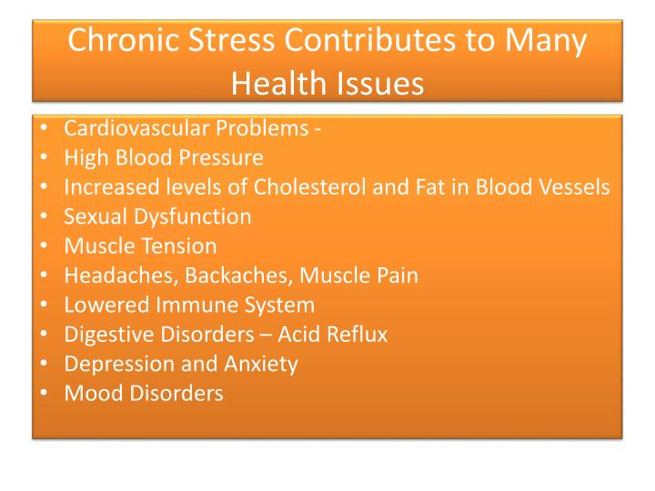 Chronic Stress Contributes to Many Health Issues