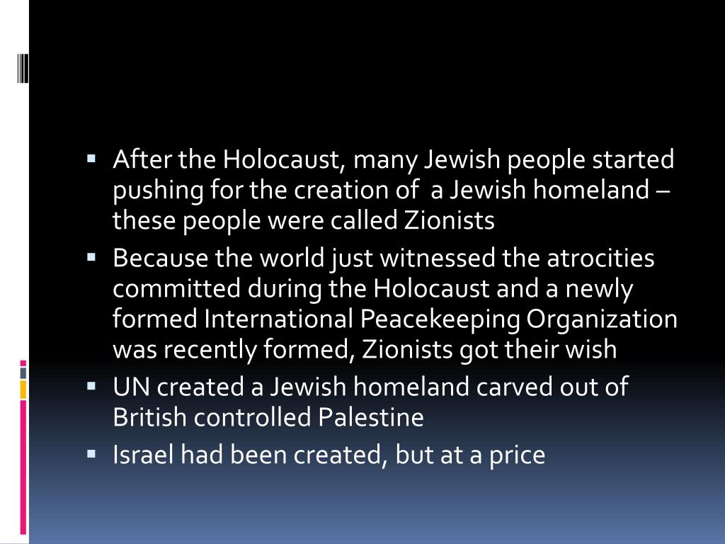 PPT - Creation of Israel PowerPoint Presentation - ID:2345628