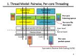 1 thread model pairwise per core t hreading