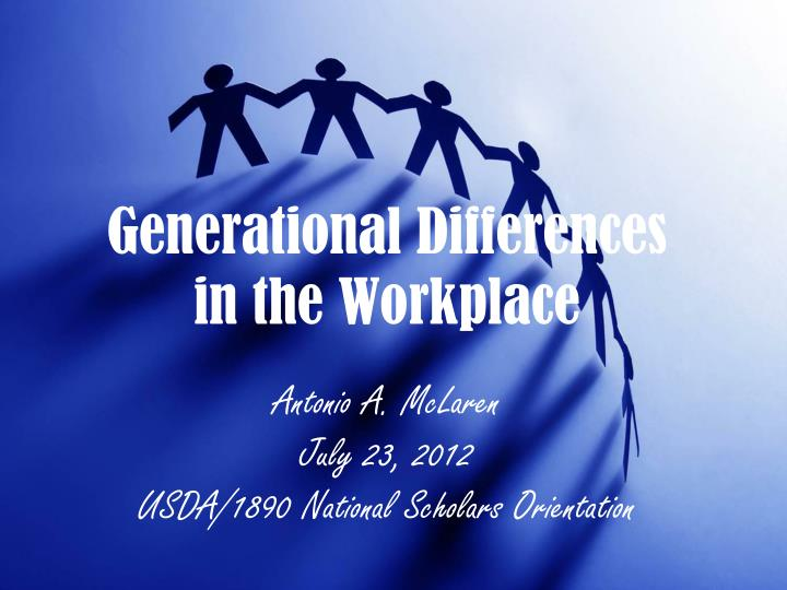 generational differences in the work place Much generational conflict stems from the differences in communication style and skills and how those differences are interpreted differences can form a barrier that gets in the way of trust, and without trust there is no team.